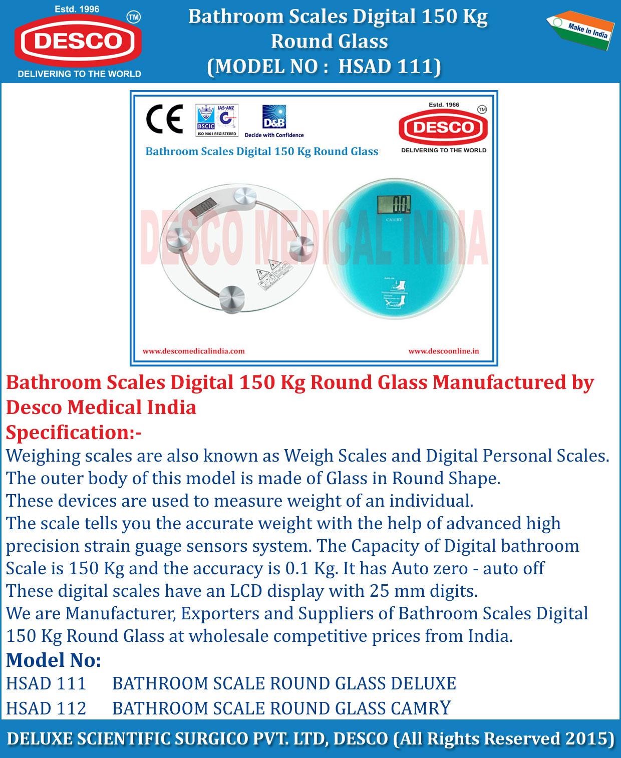 Bathroom Scales Digital Round Glass - Manufacturers ...