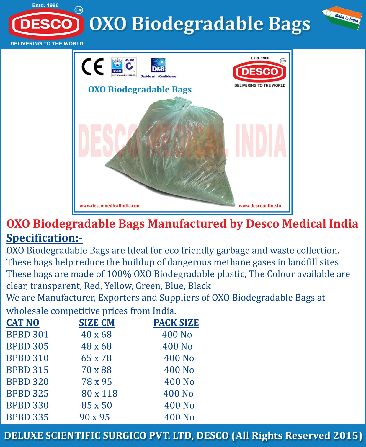 Oxo Biodegradable Plastic Bags Manufacturers Suppliers