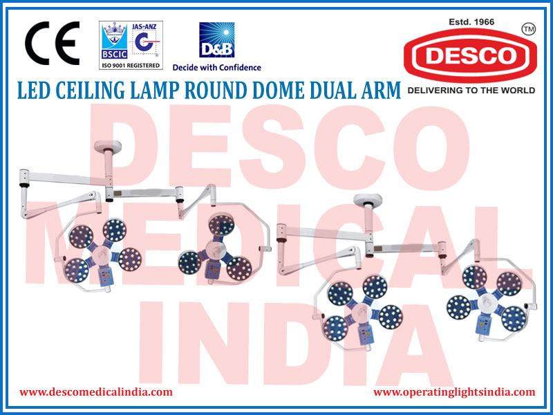 LED CEILING LAMP ROUND DOME DUAL ARM
