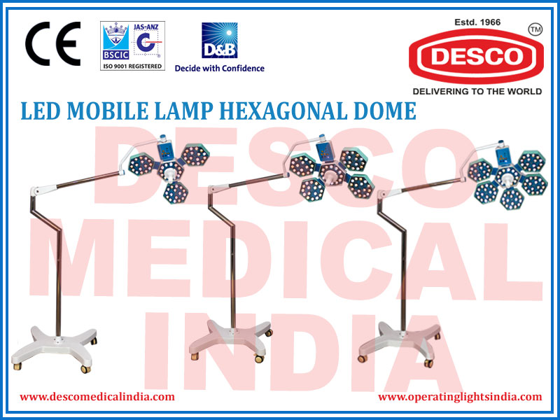 LED MOBILE LAMP HEXAGONAL DOME
