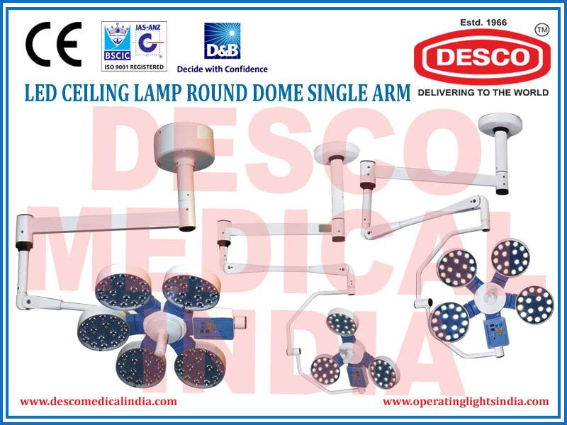LED CEILING LAMP ROUND DOME SINGLE ARM