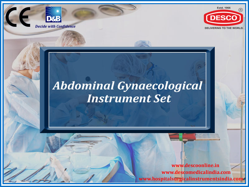 ABDOMINAL GYNAECOLOGICAL INSTRUMENT SET