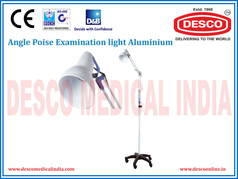 ANGLE POISE EXAMINATION LIGHT ALUMINIUM