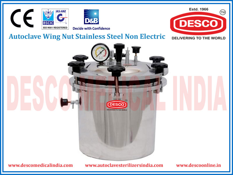 AUTOCLAVE WING NUT STAINLESS STEEL NON ELECTRIC