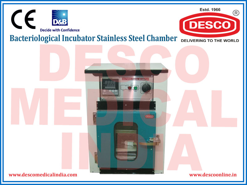 BACTERIOLOGICAL INCUBATORS STAINLESS STEEL CHAMBER