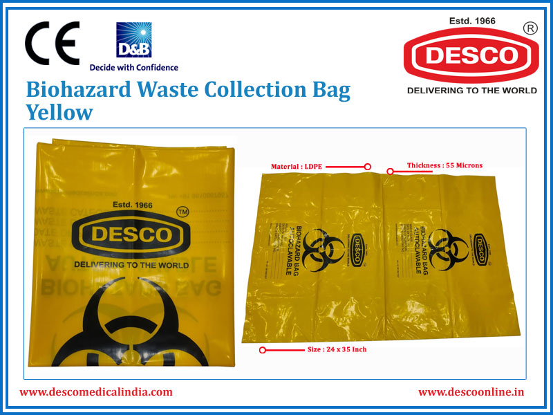 BIOHAZARD WASTE COLLECTION BAG YELLOW