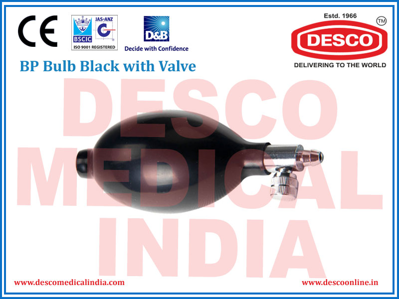 BP BULB BLACK WITH VALVE