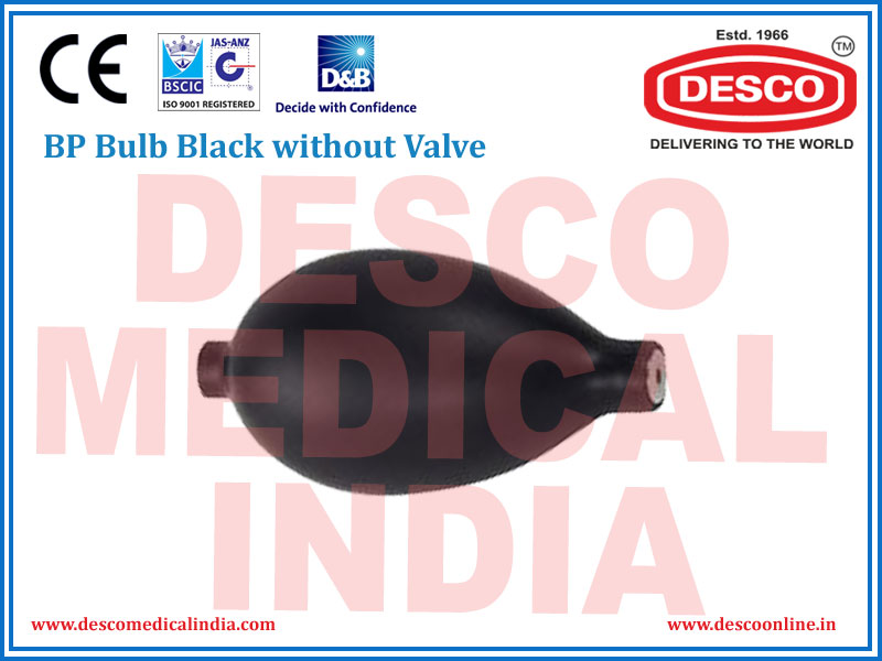 BP BULB BLACK WITHOUT VALVE