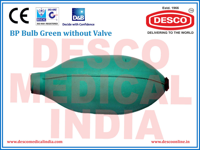 BP BULB GREEN WIHOUT VALVE