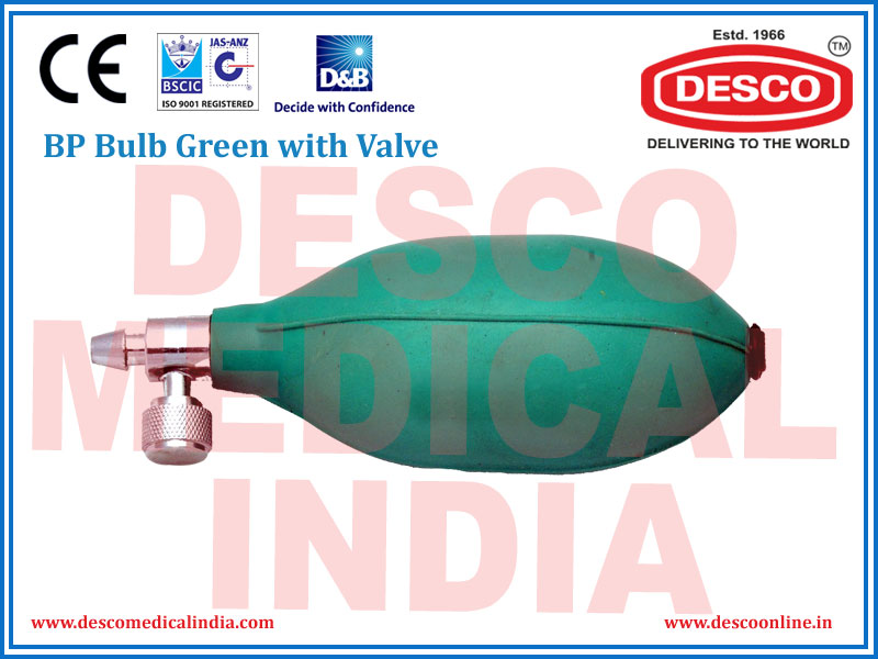 BP BULB GREEN WITH VALVE
