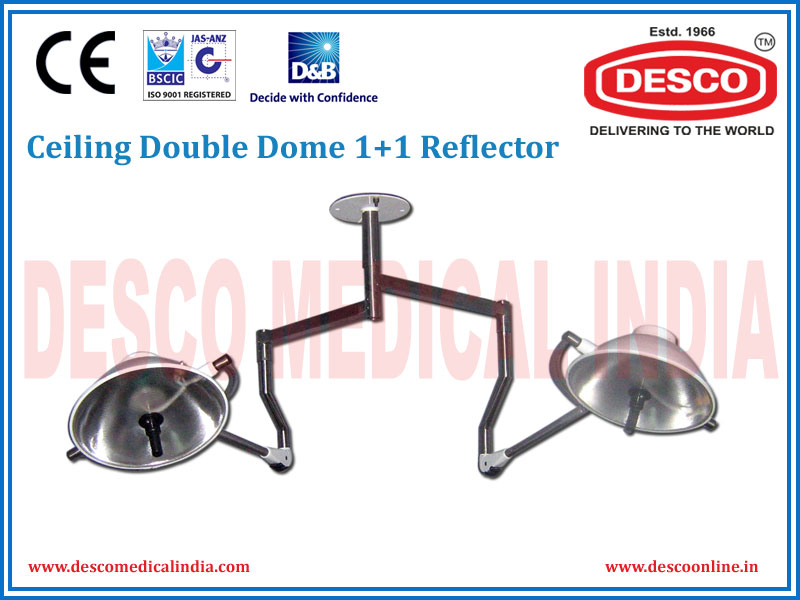 CEILING DOUBLE DOME 1 + 1 REFLECTOR