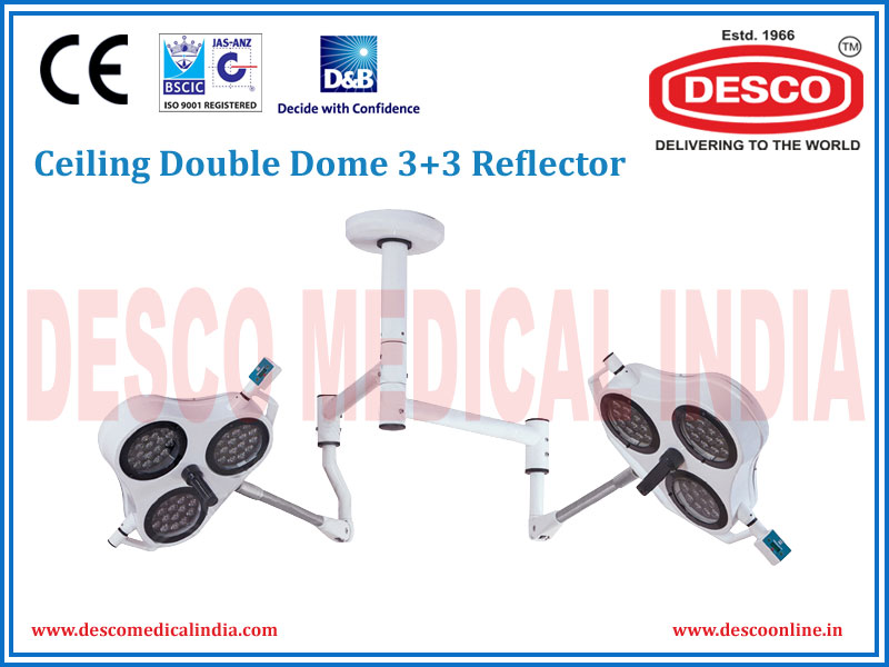 CEILING DOUBLE DOME 3 + 3 REFLECTOR