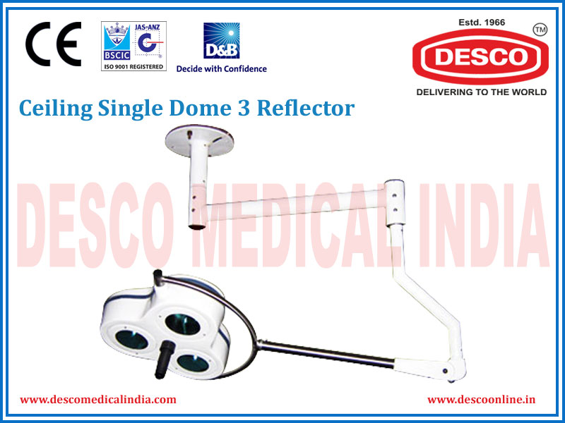 CEILING SINGLE DOME 3 REFLECTOR
