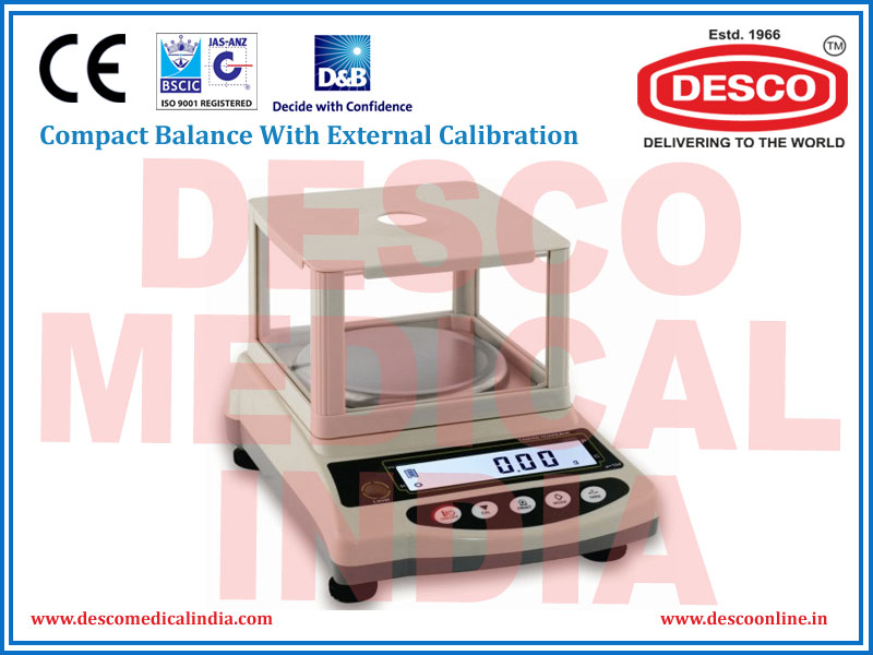 COMPACT BALANCE WITH EXTERNAL CALIBRATION