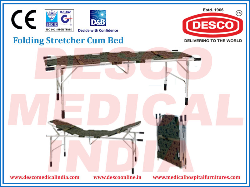 FOLDING STRETCHER CUM BED