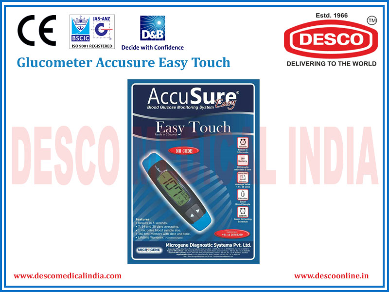 GLUCOMETER ACCUSURE EASY TOUCH