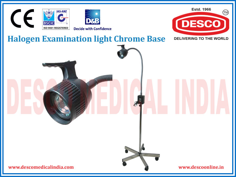 HALOGEN EXAMINATION LIGHT CHROME BASE