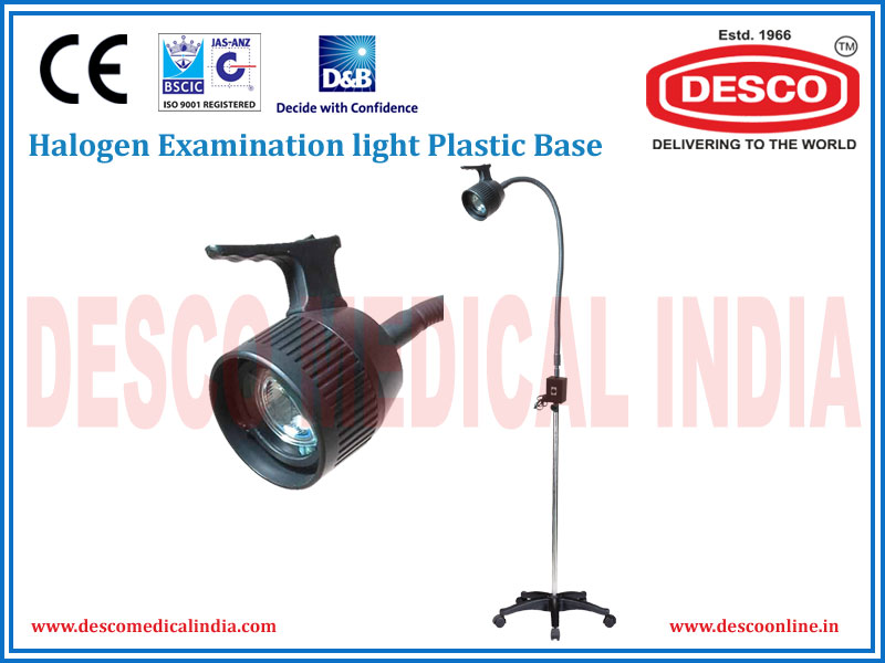HALOGEN EXAMINATION LIGHT PLASTIC BASE