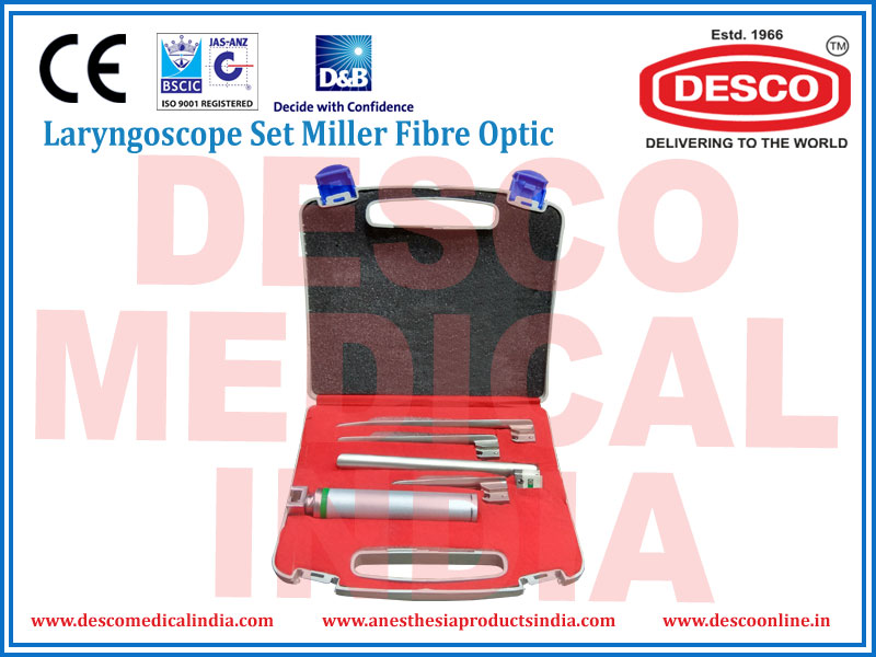 FIBRE OPTIC LARYNGOSCOPE SET MILLER