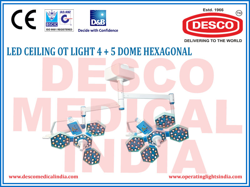LED CEILING OT LIGHT 4+5 DOME HEXAGONAL