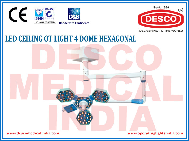 LED CEILING OT LIGHT 4 DOME HEXAGONAL