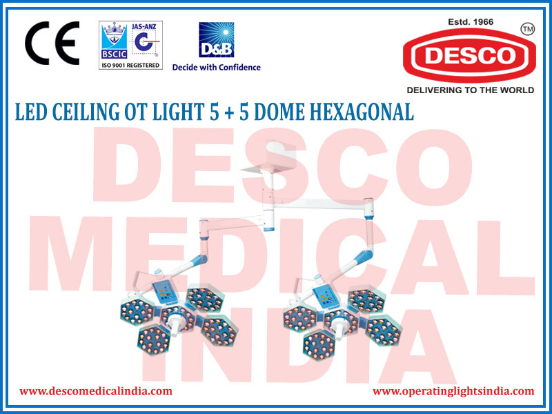 LED CEILING OT LIGHT 5+5 DOME HEXAGONAL