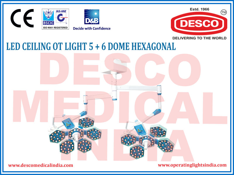 LED CEILING OT LIGHT 5+6 DOME HEXAGONAL