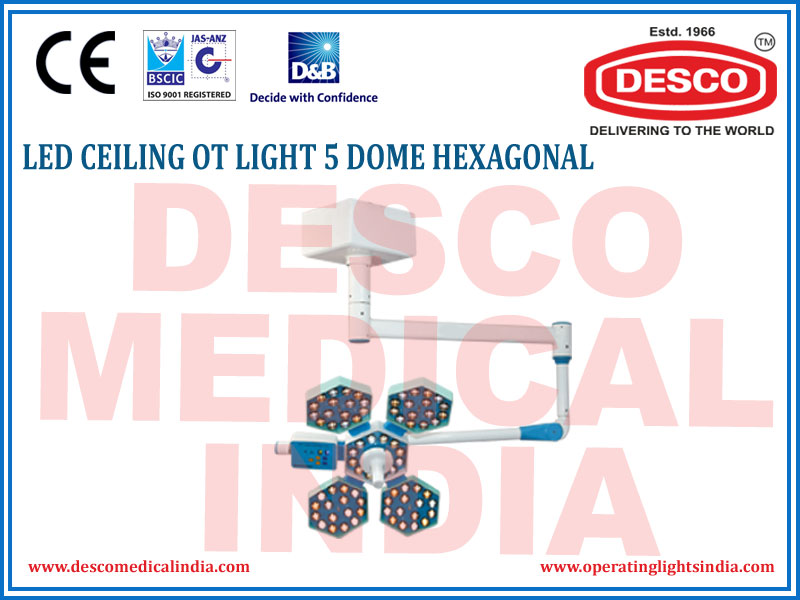 LED CEILING OT LIGHT 5 DOME HEXAGONAL