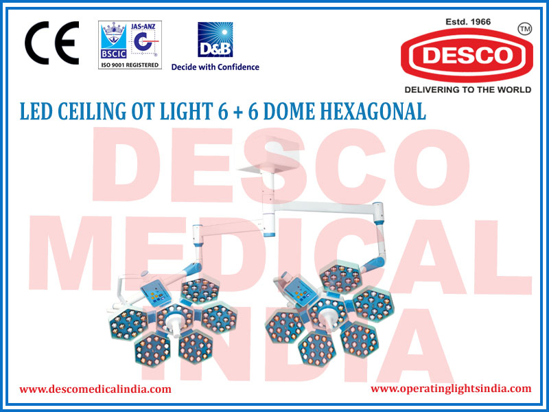 LED CEILING OT LIGHT 6+6 DOME HEXAGONAL