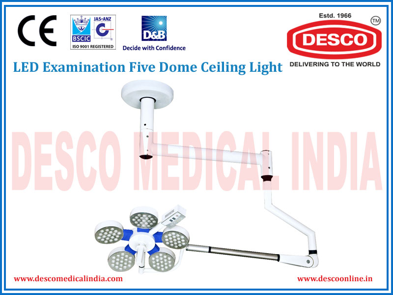 LED EXAMINATION FIVE DOME CEILING LIGHT