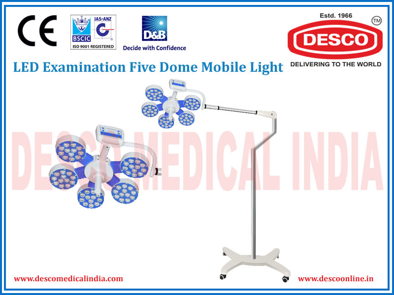 LED EXAMINATION FIVE DOME MOBILE LIGHT