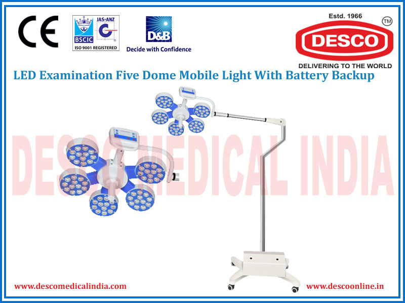 LED EXAMINATION FIVE DOME MOBILE WITH BATTERY BACKUP LIGHT
