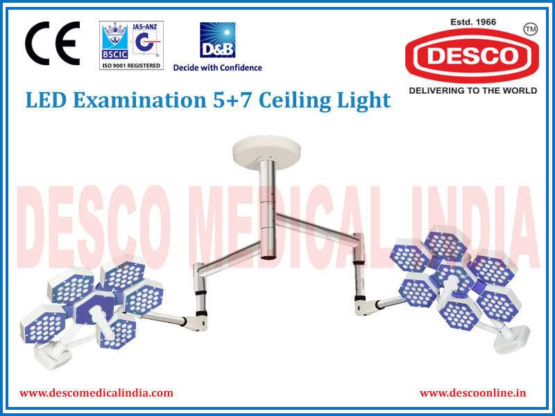 LED EXAMINATION FIVE + SEVEN DOME CEILING LIGHT