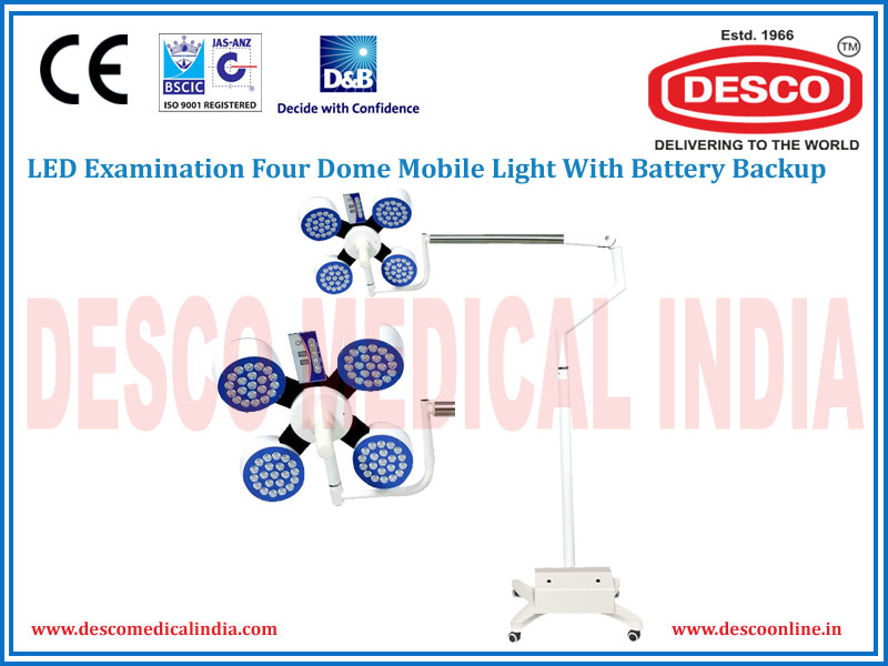 LED EXAMINATION FOUR DOME MOBILE WITH BATTERY BACKUP LIGHT