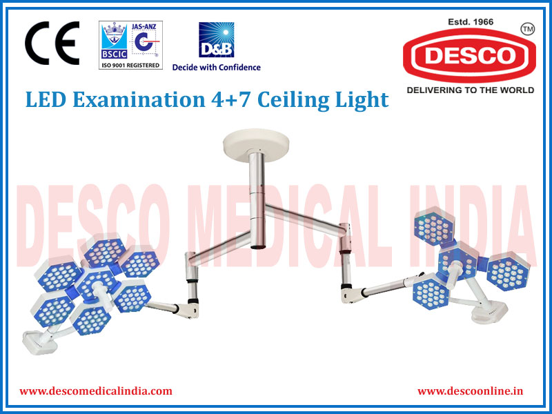 LED EXAMINATION FOUR + SEVEN DOME CEILING LIGHT