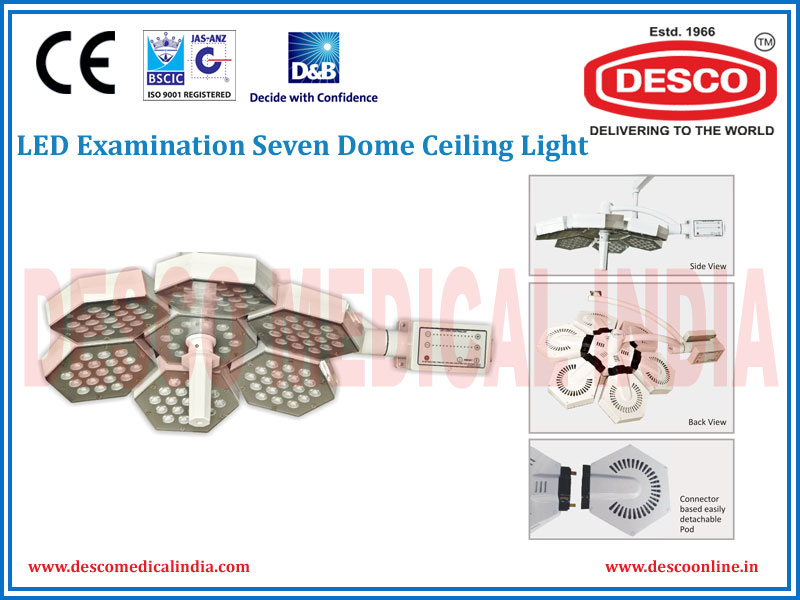 LED EXAMINATION SEVEN DOME CEILING LIGHT