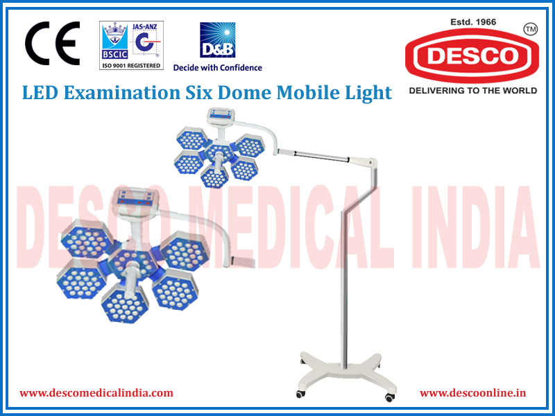 LED EXAMINATION SIX DOME MOBILE LIGHT