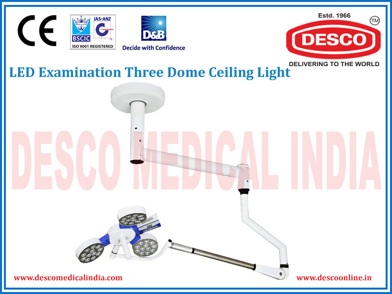 LED EXAMINATION THREE DOME CEILING LIGHT