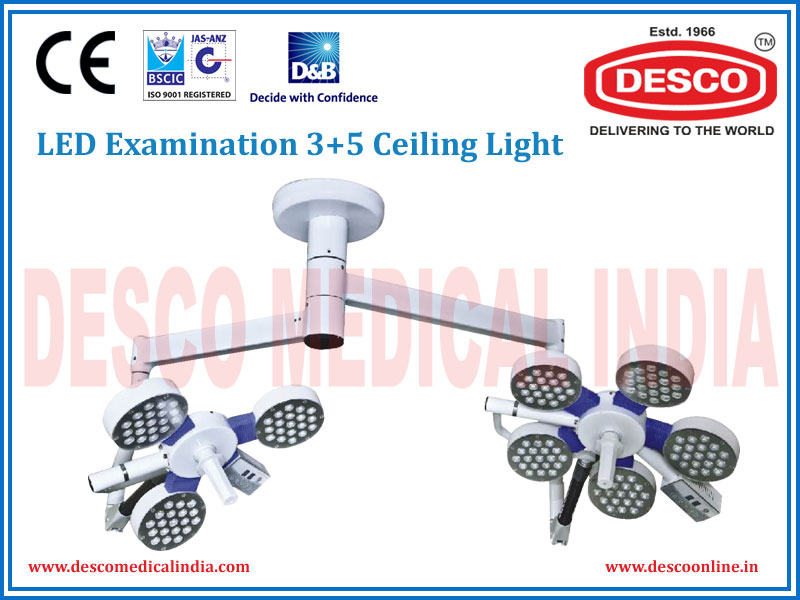 LED EXAMINATION THREE + FIVE CEILING LIGHT