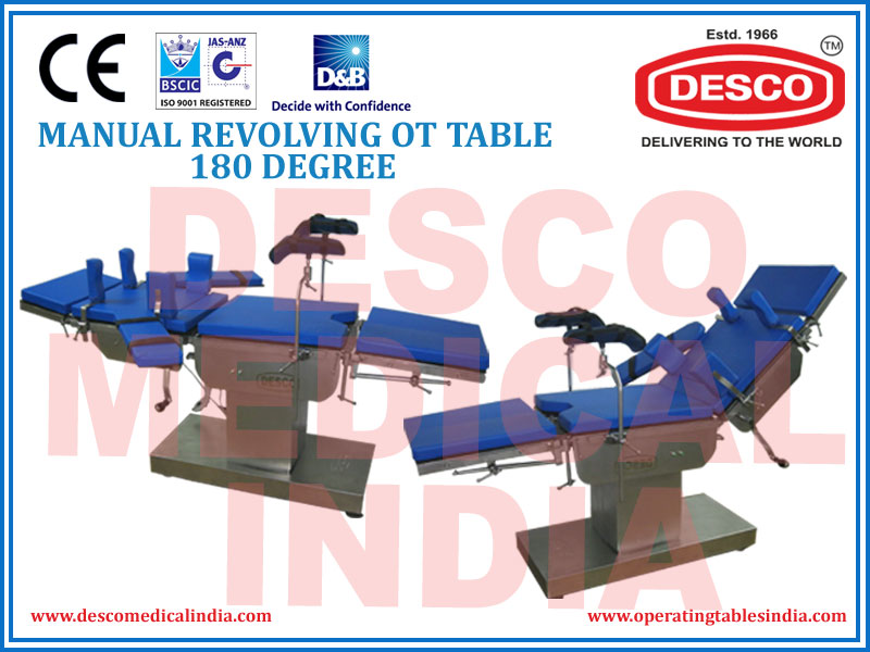MANUAL REVOLVING OT TABLE 180 DEGREE