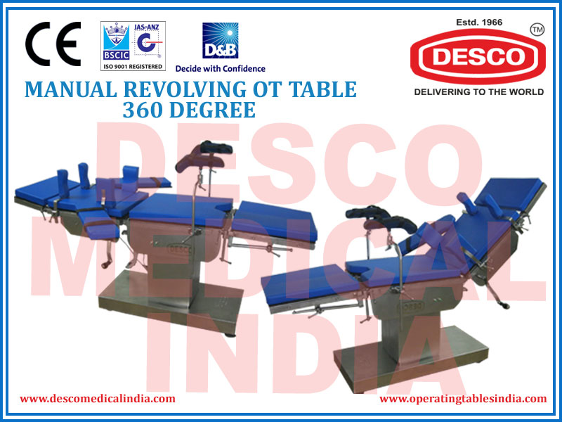 MANUAL REVOLVING OT TABLE 360 DEGREE