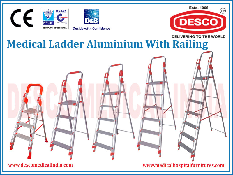 LADDER ALUMINIUM WITH RAILING