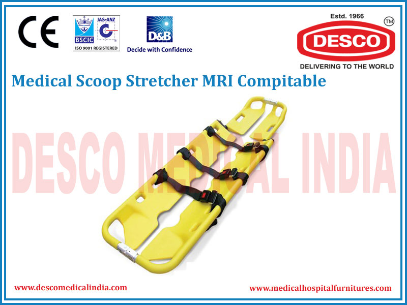 SCOOP STRETCHER MRI COMPITABLE