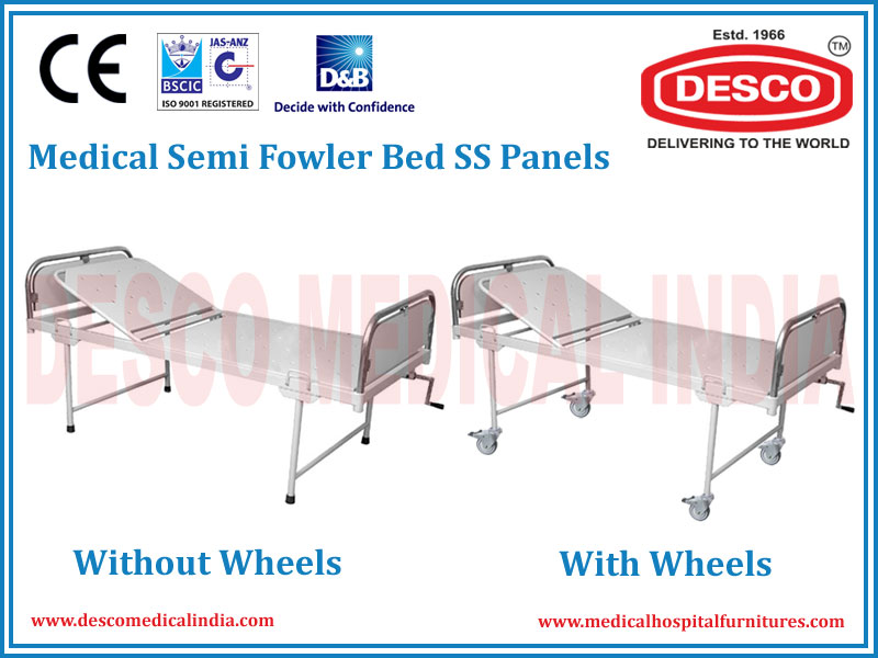 MEDICAL SEMI FOWLER BED SS PANELS