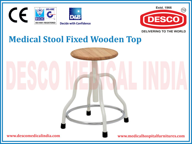 STOOL FIXED WOODEN TOP