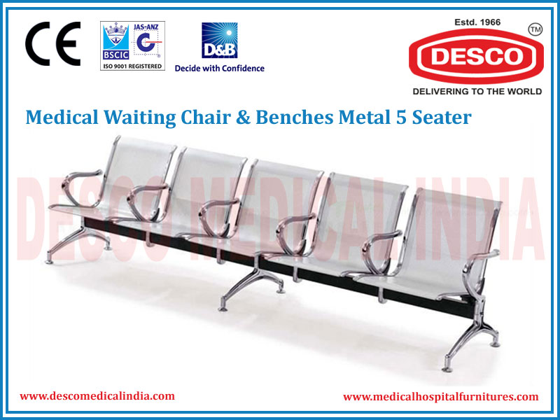 WAITING CHAIR & BENCHES METAL 5 SEATER