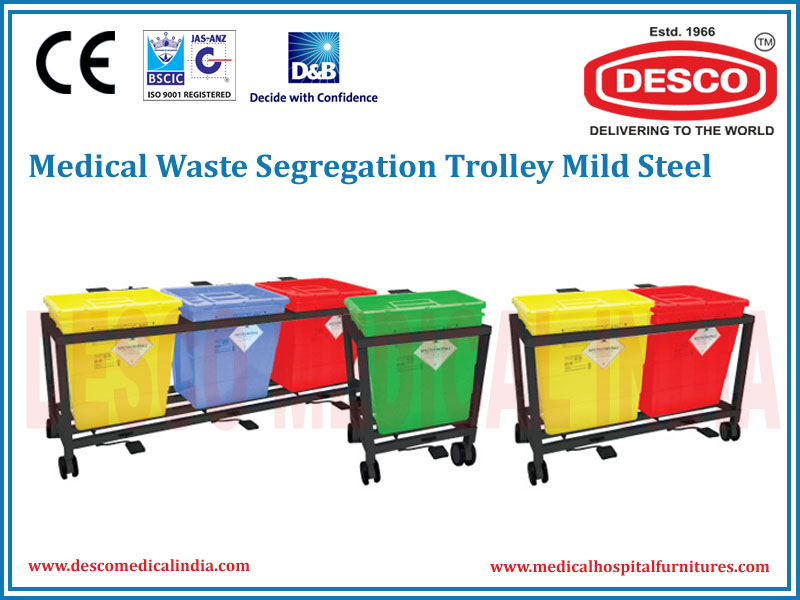 WASTE SEGREGATION TROLLEY MILD STEEL