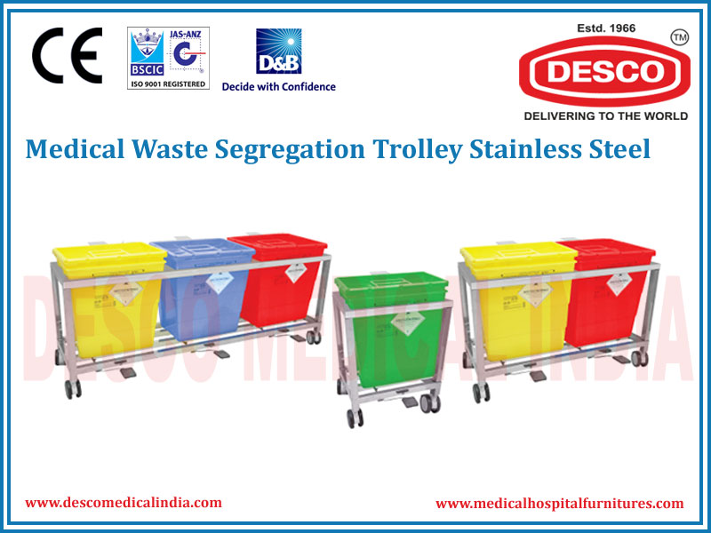 WASTE SEGREGATION TROLLEY STAINLESS STEEL