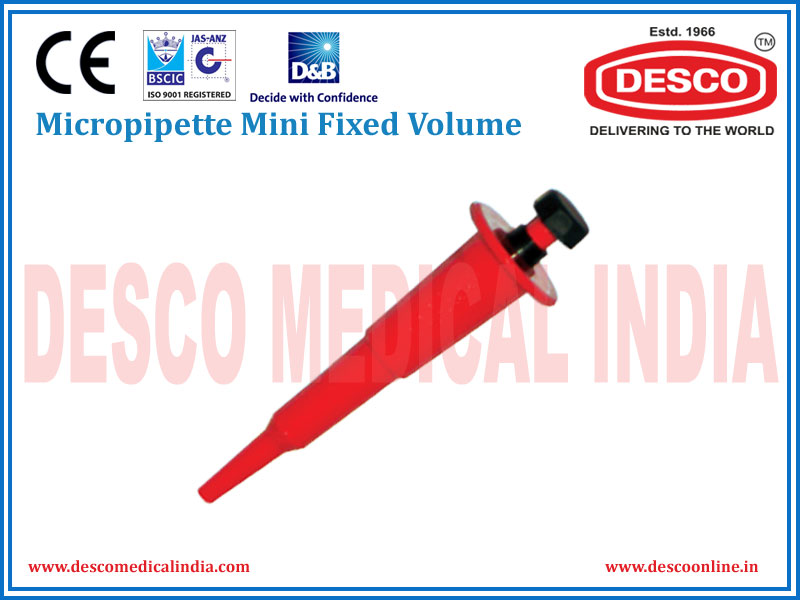 MICROPIPETTE MINI FIXED VOLUME