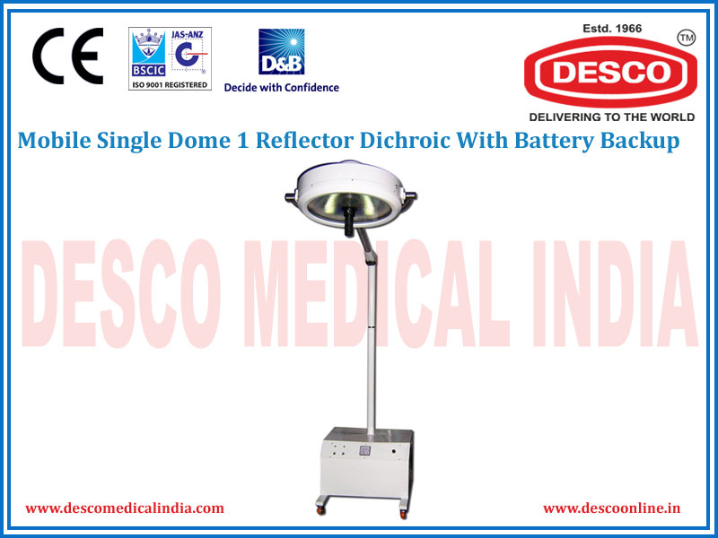 MOBILE SINGLE DOME 1 REFLECTOR DICHROIC WITH BATTERY BACKUP